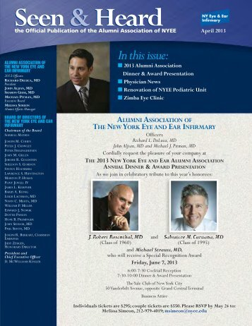 April 2013 - New York Eye and Ear Infirmary