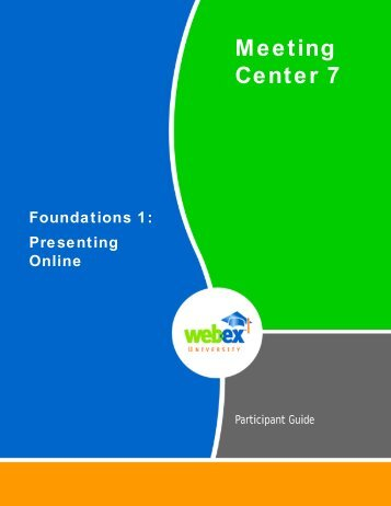 Meeting Center 7 Foundations 1: Presenting Online