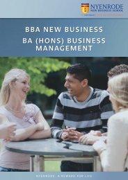 Brochure - Nyenrode Business Universiteit