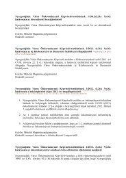 Nyergesújfalu Város Önkormányzati Képviselő-testületének 1/2012 ...