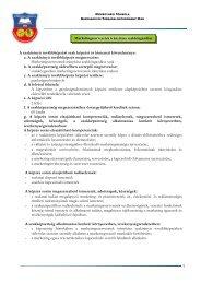 1 A szakirányú továbbképzési szak képzési és kimeneti követelménye