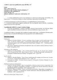 Bölcsészettudományi és Művészeti Kar teljes publikációs listája