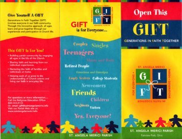 Sample Promotion Brochure 2