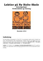 Lektier på Ny Holte Skole Retningslinjer Forberedelse og træning ...