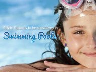 Pool designs California- Swimming pool Safety Features