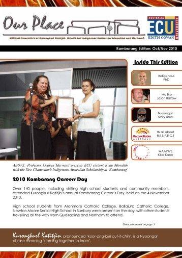 Inside This Edition 2010 Kambarang Careers Day - Edith Cowan ...
