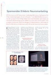Spannendes Erlebnis Neuromarketing - Gruppe Nymphenburg