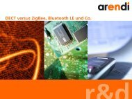 DECT versus ZigBee, Bluetooth LE und Co. - Embedded Computing ...