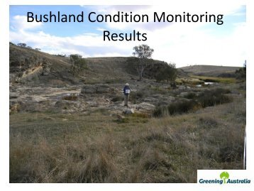 Bushland Condition Monitoring Results
