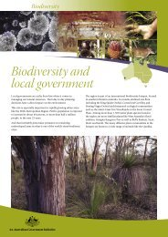 Biodiversity fact sheet series: Biodiversity and local government