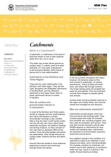 Catchments - Northern and Yorke Natural Resources Management ...