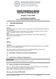 YORKE PENINSULA GROUP Minutes of Meeting No.10