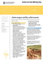 Action targets and key achievements - Northern and Yorke Natural ...