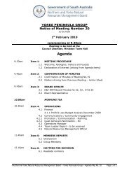 Agenda - Northern and Yorke Natural Resources Management ...
