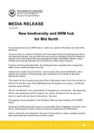 MEDIA RELEASE - Northern and Yorke Natural Resources ...