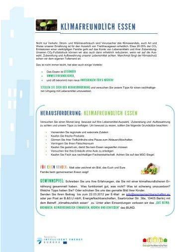 Klimafreundlich essen - Energyneighbourhoods