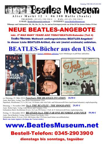 Beatles Museum - Katalog 38 mit Hyperlinks