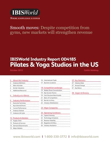 I've attached the first two pages from the pdf of the Yoga report