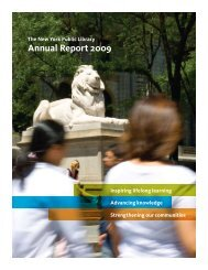 Annual Report 2009 - New York Public Library