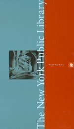 2001 Annual Report - New York Public Library