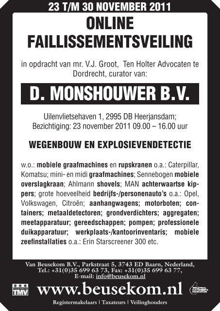 1cfbface088581 catalogus - Veiling - Van Beusekom