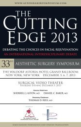 2013 Program - New York Plastic Surgery Foundation