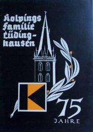 Kolpingsfamilie Luedinghausen 75 Jahre (1952)
