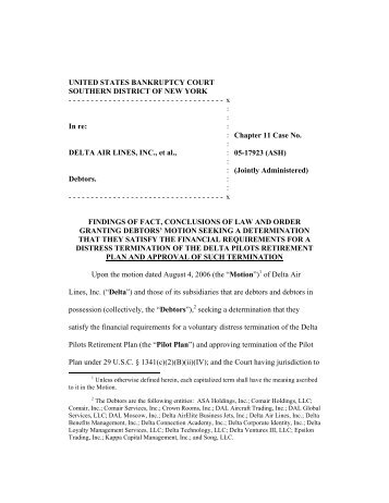 United States Bankruptcy Court Southern District Of New York