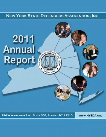 2011 Annual Report to the Membership - New York State Defenders ...