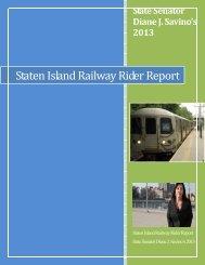 Staten Island Railway Rider Report - New York State Senate