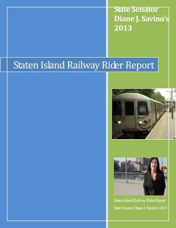 Staten Island Railway Rider Report - New York State Senate