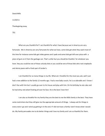 Essay On Research Methods David Mills  Thanksgiving Essay  What Are You Thankful  Sample Argumentative Essay On Abortion also Argumentative Essay On Plastic Surgery A Citizenship Essay By Samantha Mills Essay   Dr Peter Jepson Argumentative Essay Samples For Teachers