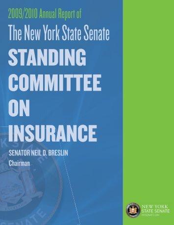 Insurance comm annual report.indd - New York State Senate