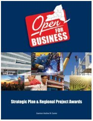 Strategic Plan & Regional Project Awards - New York State ...