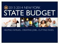 2013-2014 State Budget Overview - New York State Senate