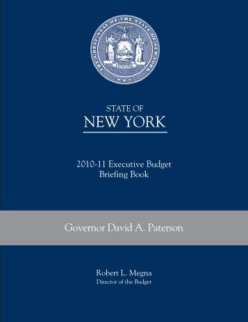 Briefing Book - New York State Division of the Budget