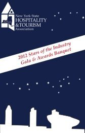 HOSPITALITY &TOURISM 2012 Stars of the Industry Gala & Awards ...