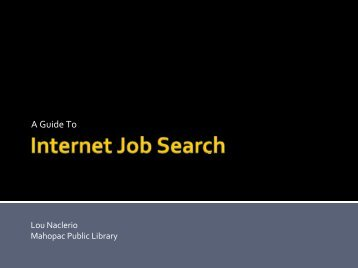 Job Search - New York State Library