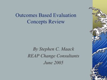 Outcomes Based Evaluation Concepts Review - New York State ...