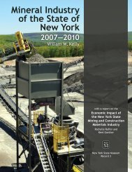 Mineral Industry of the State of New York 2007–2010