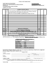 publication order form - New York State Museum