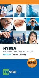 Fall 2011 PD Catalog (PDF) - New York Society of Security Analysts