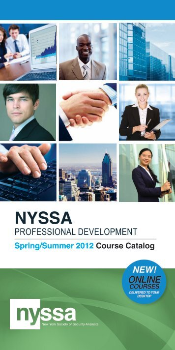 PROFESSIONAL DEVELOPMENT ONliNE - New York Society of ...