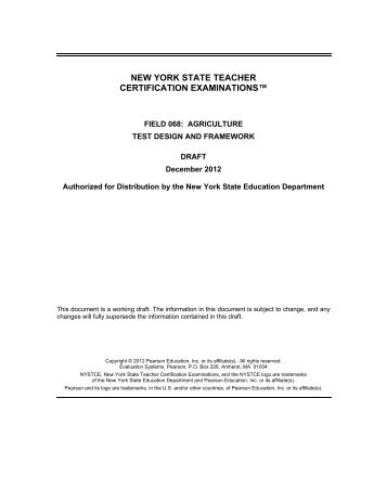 Memo and Appropriate New York State Teaching Science Certificate ...