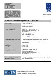 European Technical Approval ETA-09/0364 - ETA-Danmark
