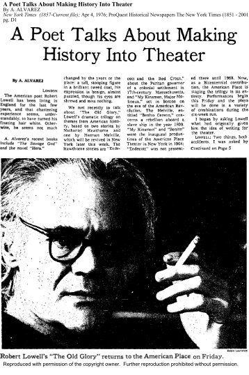 An Interview From 1976 - New York Times