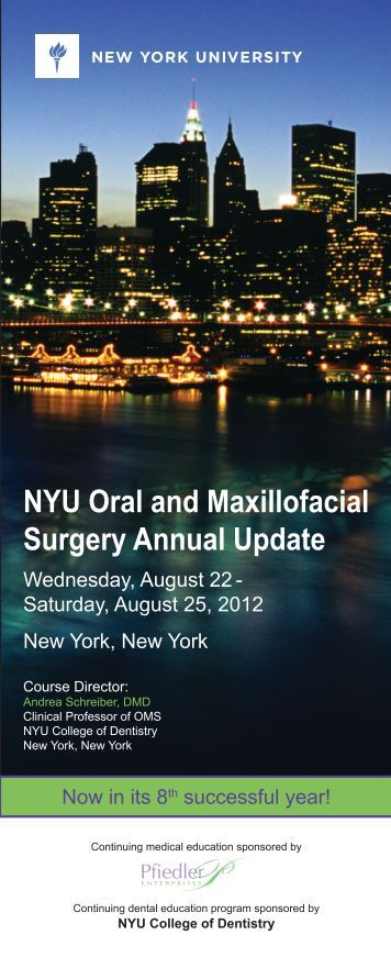 NYU Oral and Maxillofacial Surgery Annual Update - New York ...