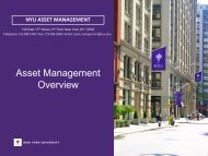 NYU Asset Management Office - New York University