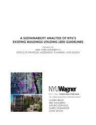 a sustainability analysis of nyu's existing - New York University