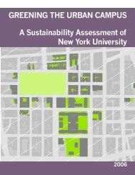 GREENING THE URBAN CAMPUS A Sustainability - New York ...